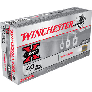 Winchester Super-X .40 S&W Ammunition 500 Rounds 165 Grain BEB 1130fps