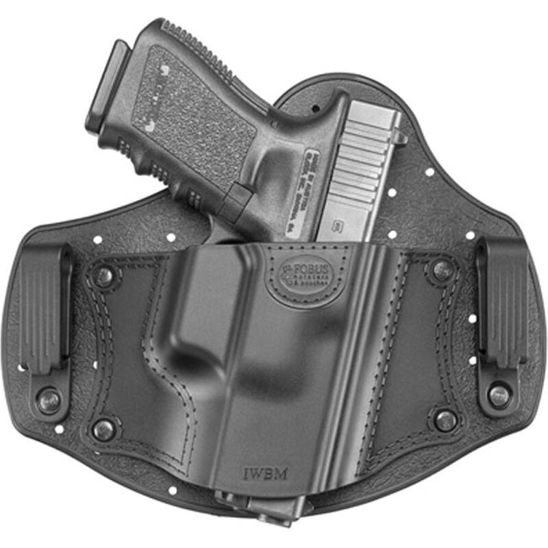 Fobus Universal IWB Holster Medium Frame Autos Right Hand Leather/Polymer Black IWBM