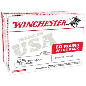 Winchester USA 6.5 Creedmoor Ammunition 60 Rounds 125 Grain Open Tip Range Bullet 2850 fps