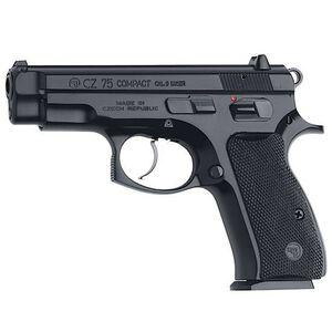 """CZ 75 D PCR Semi Automatic Pistol 9mm Luger 3.8"""" Barrel 10 Rounds Rubber Grip Panels Black Finish 01194"""