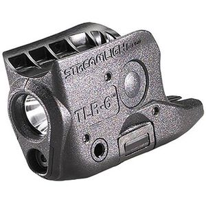 Streamlight TLR-6 Rail Mounted LED Tactical Light with Red Laser 100 Lumen Light GLOCK 42/43 Polymer Matte Black 69270