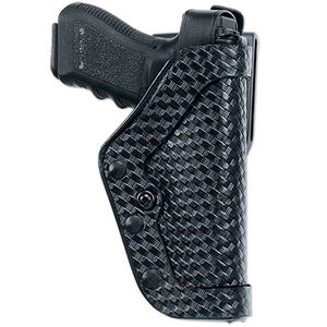 Uncle Mike's PRO-2 GLOCK 17, 19, 22, 23, 31 Level II Duty Holster Right Hand Size 21 Mirage Basketweave Black 43185