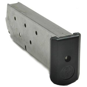 Ruger P345 Magazine .45 ACP 8 Rounds Steel Body Black Polymer Base Plate Natural Finish