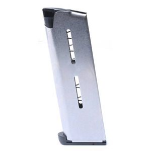 Wilson Combat 1911 Officer/Defender Compact 7 Round Magazine .45 ACP Lo-Profile Steel Base Pad Stainless Steel Natural Finish