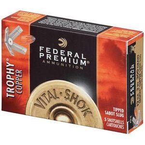 """Federal Vital-Shok 12 Ga 3"""" 300gr Cu Sabot Slug 5 Rounds"""