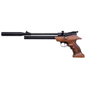 Diana Bandit .22 Caliber PCP Air Pistol Rifled Barrel 630 fps 7 Pellets Adjustable Sights Wood Target Grip Blued Finish
