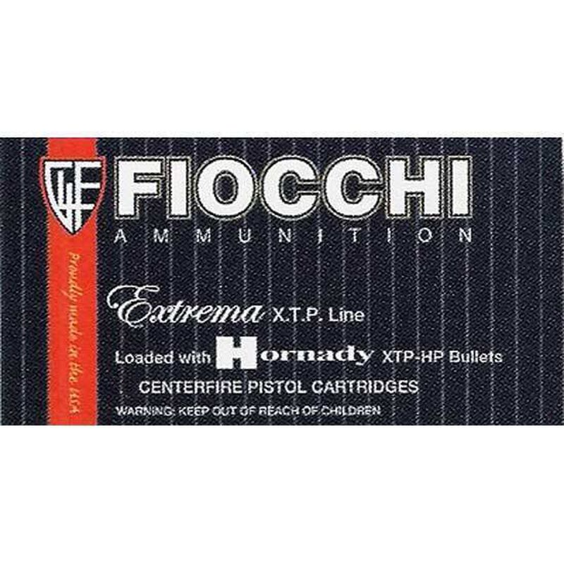 Fiocchi Extrema .380 ACP Ammunition 90 Grain Hornady XTP Jacketed Hollow Point 975 fps