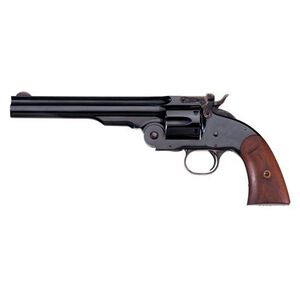 "Taylor's & Co Schofield Top Break Single Action Revolver .38 Special 7"" Barrel 6 Rounds Blue Walnut Grips 0850"