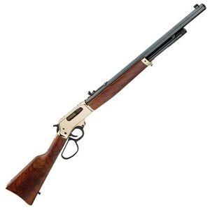 """Henry .45-70 Lever Action Rifle .45-70 Government 22"""" Octagon Barrel 4 Rounds Brass Receiver Adjustable Buckhorn Rear/Brass Bead Front Walnut Stock/Forend Blued Barrel H010B"""