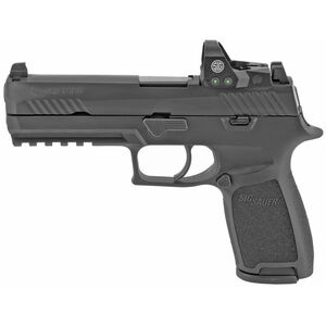"SIG Sauer P320 RXP Full Size Semi Auto Pistol 9mm Luger 4.7"" Barrel 17 Rounds Romeo1Pro/Suppressor 3-Dot Sights Polymer Frame Matte Black"