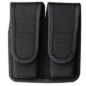 "Bianchi Model 7302 AccuMold Double Magazine Pouch Beretta 84/Government 1911 2.25"" Belt Loops Hidden Snap Closure Black 18471"