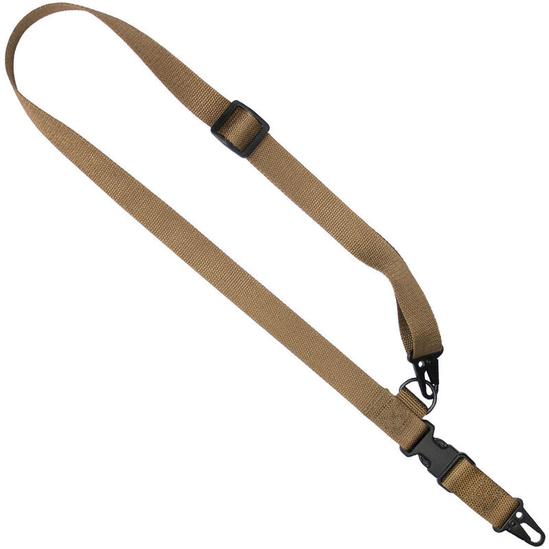 """US Tactical C1: 2-to-1 Point Tactical Sling Ambidextrous 1.25"""" Wide Coyote Brown"""