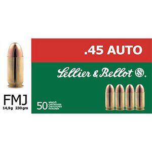 Sellier & Bellot .45 GAP 230 Grain FMJ 50 Round Box