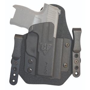 """Comp-Tac Sport-Tac Holster fits GLOCK 19 Gen5 IWB Belt Slide Right Hand 1.5"""" Belt Loops Kydex Black"""