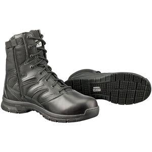 "Original S.W.A.T. Force 8"" Waterproof Men's Boot Size 10.5 Wide Non-Marking Leather/Nylon Black 152001W-105"