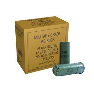 """Winchester Military Grade12 Gauge Ammunition 25 Rounds 2.75"""" 00 Buckshot 9 Pellet"""