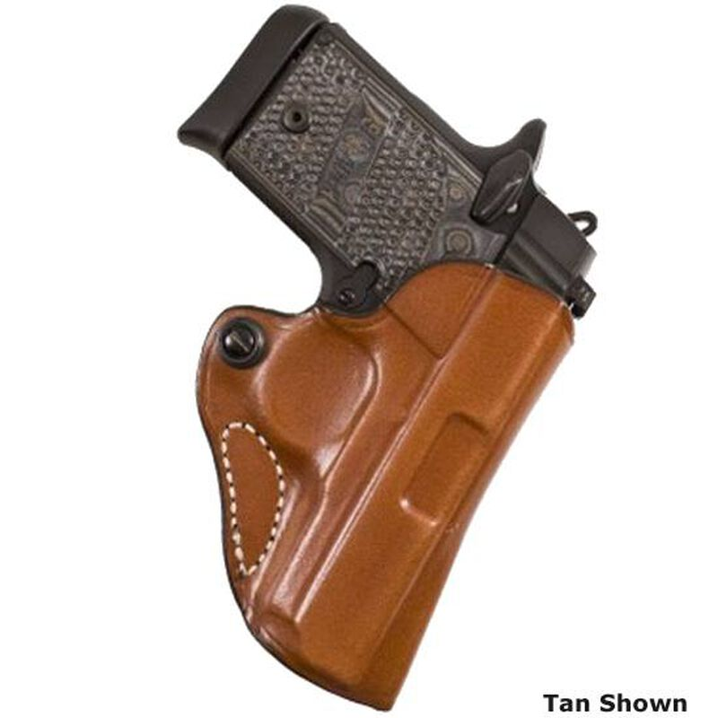 DeSantis Mini Scabbard Belt Holster Ruger EC9s With LaserMax Right Hand Leather Black 019BAQ5Z0