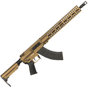 "CMMG Resolute 300 Mk47 7.62x39mm AR-15 Style Semi Auto Rifle 16"" Barrel 30 Round AK-47 Magazine RML15 M-LOK Handguard RipStock Collapsible Stock Burnt Bronze Finish"
