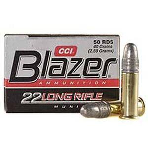 Blazer .22LR Ammunition 50 Rounds, LRN, 40 Grain