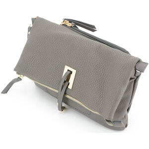 "Cameleon Aya Clutch/Crossbody Handbag with Concealed Carry Gun Compartment 13""x8""x3"" Synthetic Leather Brown"