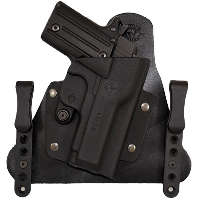 Comp-Tac Cavalry Holster SIG P938 IWB Hybrid Right Handed Leather/Kydex Black