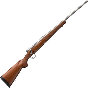 """Winchester Model 70 Featherweight Stainless .243 Win Bolt Action Rifle 22"""" Barrel 5 Rounds Adjustable Trigger Walnut Stock Stainless Steel Finish"""