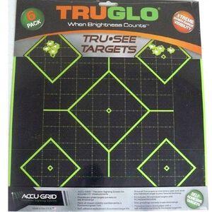"TRUGLO Tru-See Splatter Target 5 Diamond Paper Target 12""x12"" Green 6 Pack TG14A6"