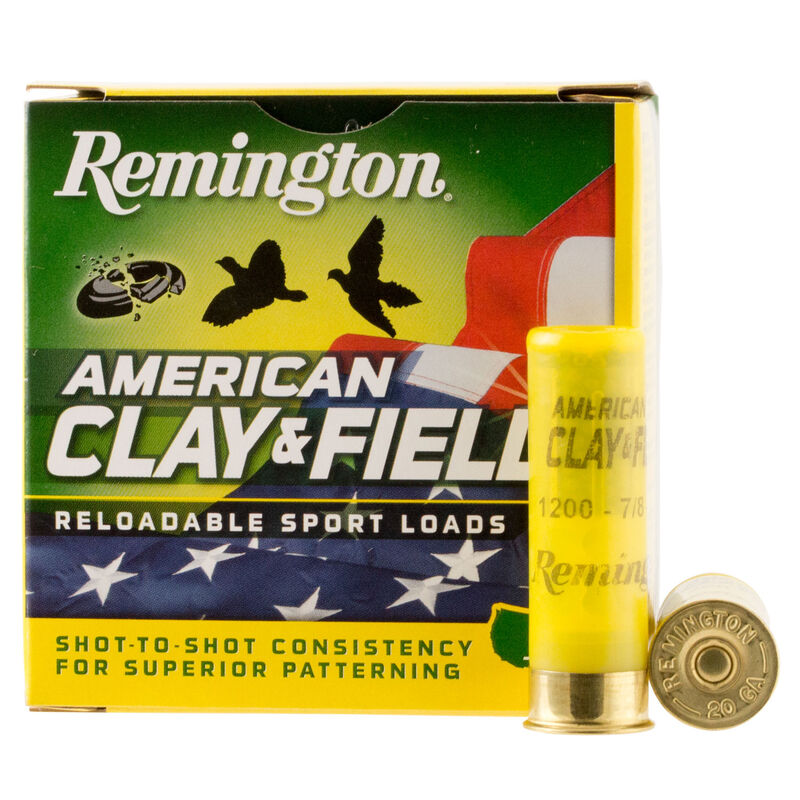 "Remington Clay & Field 12 Gauge Ammunition 250 Rounds 2.75"" #7.5 Lead 1.125 Ounce HT1275"