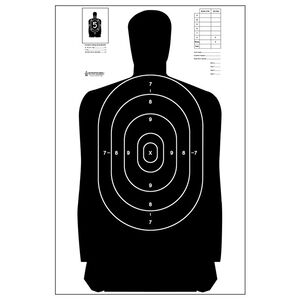 "Action Target B-27 Standard Target 23"" x 45"" Paper Black 100 Pack"