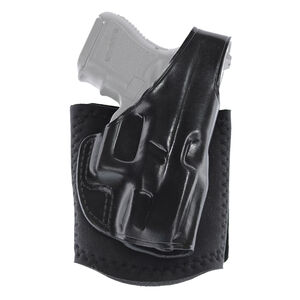 Galco Ankle Glove Ankle Holster Fits S&W M&P Compact 9/40 Right Hand Leather Black