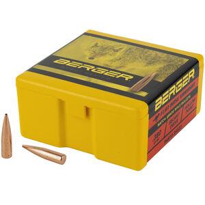 "Berger Varmint 6mm Bullets 0.243"" Diameter 88 Grain Flat Base Hollow Point 100 Count"