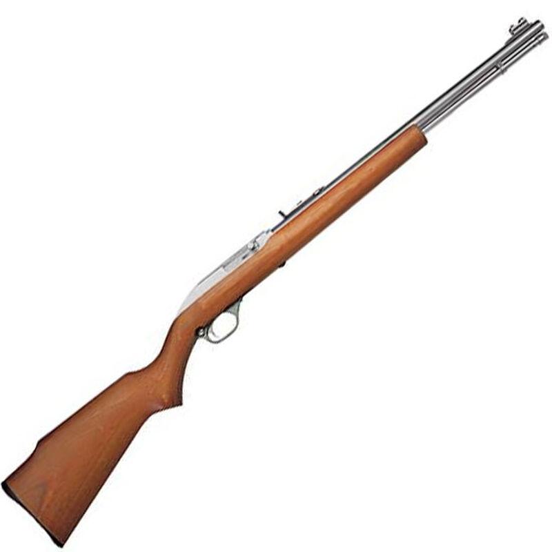 "Marlin Model 60SB Semi Auto Rimfire Rifle .22 LR 19"" Barrel 14 Rounds Walnut Stock Stainless Finish"