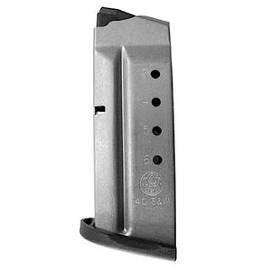 Smith & Wesson M&P Shield Magazine .40 S&W 6 Rounds Stainless Steel 199330000