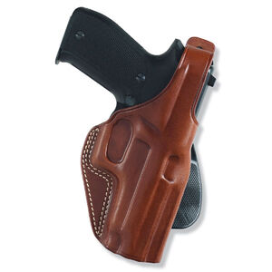 "Galco PLE Paddle Holster Fits 1911 Mid Size 4"" Right Hand Leather Tan"