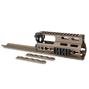 Midwest Industries SSR SCAR Rail Extension KeyMod Aluminum Flat Dark Earth MI-S1617-SSRK-FDE