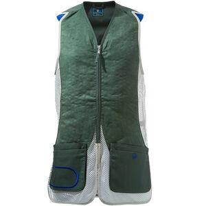 Beretta USA DT11 Shooting Vest Cotton and Mesh Panels Medium Green/Silver