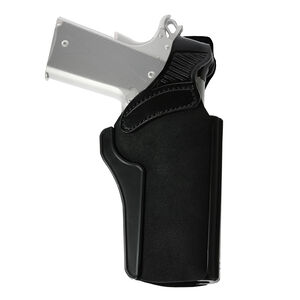 """Galco Wraith Holster Belt/Paddle Fits 1911 with 4"""" Barrels and Similar Ambidextrous Leather Black"""
