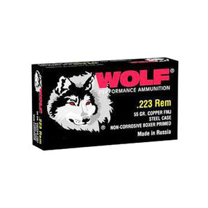 Wolf Polyformance .223 Rem Ammunition 55 Grain FMJ 3241 fps