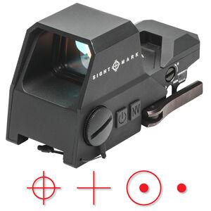 Sightmark Ultra Shot A-Spec Reflex Sight Red Multi-Reticle 1 MOA Adjustment CR123A Battery Picatinny QD Mount Aluminum Housing Matte Black Finish