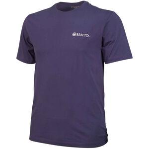 Beretta USA Trident Logo T-Shirt Short Sleeve Men's Size XL Cotton Navy