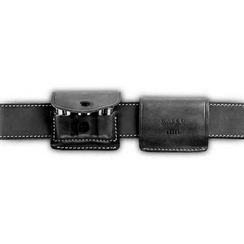 Galco 2X2X2  45 Long Colt Ammo Carrier Leather Black 2X44B