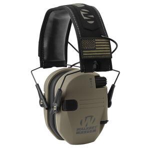 Walker's Game Ear Razor Patriot Series Electronic Adult Folding Earmuffs American Flag Flat Dark Earth GWP-RSEM-PAT-FDE