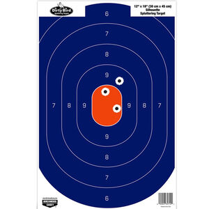 "Birchwood Casey Dirty Bird ""Silhouette"" Paper Target 12""x18"" Blue and Orange 50 Pack 35720"