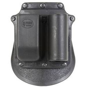Fobus Flashlight/Magazine Combo Pouch GLOCK 9mm Luger/.357 SIG/.40 S&W/.45 GAP OWB Paddle Holster Polymer Black SF6900