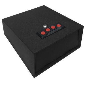 "Sports Afield Lightning Vault 1 Handgun 5.3""x10.6""x12"" Side Access Padded Interior Red LED Illuminated Electronic Lock Black"