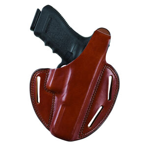 Bianchi Model 7 Shadow II GLOCK 29, 30 Pancake Holster Thumb Break Leather Right Hand Black 19512