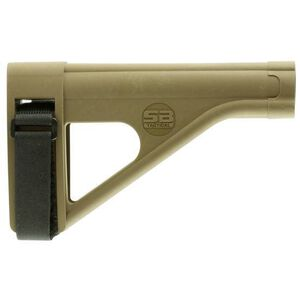 SB Tactical Pistol Stabilizing Brace Fits AR Style Pistol Buffer Tube ATF Compliant Polymer Construction Flat Dark Earth