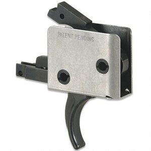 """CMC Triggers AR-15 Drop-In Single Stage Trigger Curved 5-5.5LB .154"""" Small Pin Receiver Matte Black 93501"""
