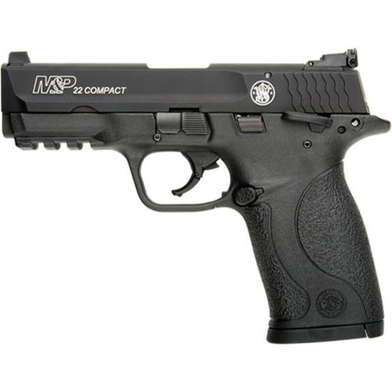"S&W M&P22 .22 LR Compact Semi Auto Handgun 3.5"" Barrel 10 Rounds Polymer Frame Black Finish"