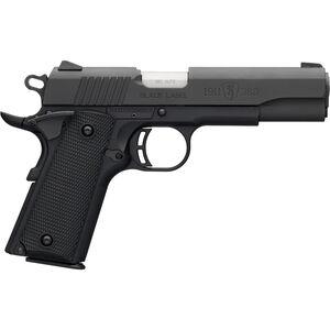 "Browning 1911-380 Black Label Full Size .380 ACP Semi Auto Pistol 4.25"" Barrel 8 Rounds Combat Sights Polymer Frame Matte Black Finish"